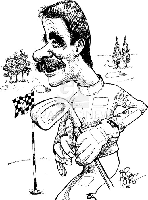 Nigel Mansell 1992 caricature infographic