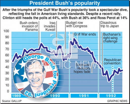 Bush popularity infographic