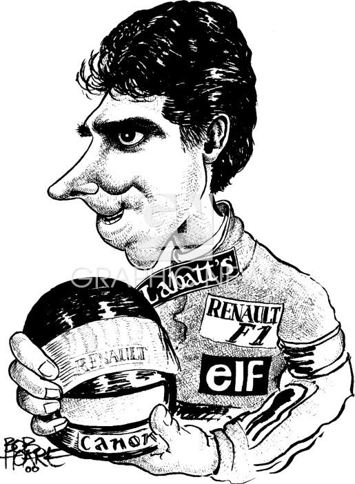 Damon Hill 1993 caricature infographic