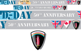 D-Day landings page straps infographic