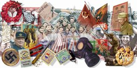 VE Day montage infographic
