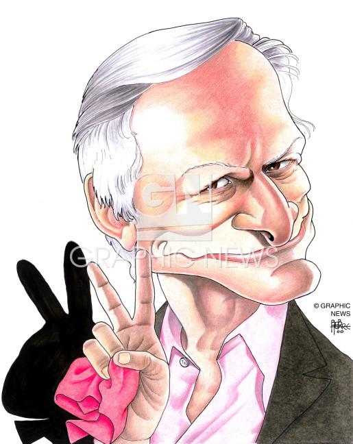 Hugh Hefner 2001 caricature infographic