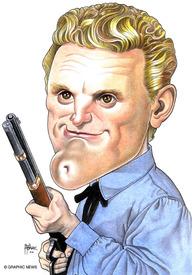 Kirk Douglas 2001 caricature infographic