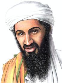AFGHANISTAN: Osama bin Laden 2001 caricature infographic