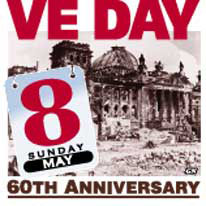 VE DAY 60: Victory in Europe WWII themeblock infographic