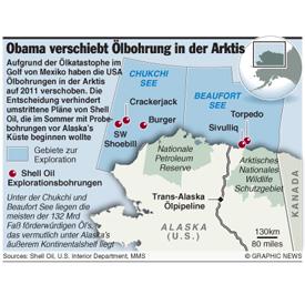U.S.: Obama verschiebt Ölbohrungen in der Arktis infographic