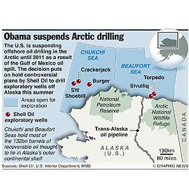 U.S.: Obama suspends Arctic drilling infographic