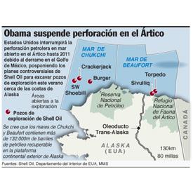 Obama suspende perforación en el Ártico infographic
