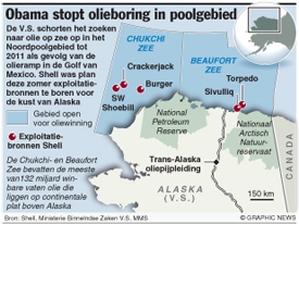 Obama stopt olieboring in poolgebied infographic