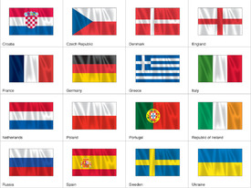 Euro 2012 flags  infographic