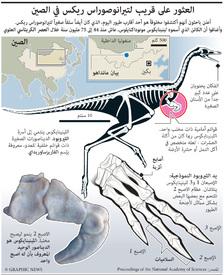 العثور على قريب لتيرانوصوراس ريكس في الصين infographic