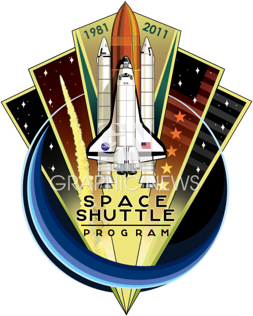 Shuttle programme patch infographic