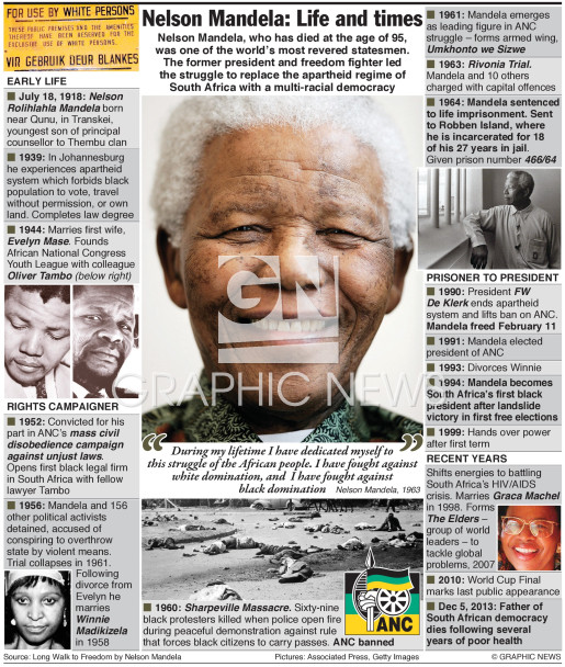 Nelson Mandela life and times (3) infographic