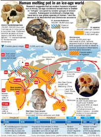 SCIENCE: Ice age human melting pot infographic
