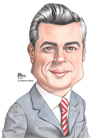 MEXICO: Enrique Pena Nieto caricature 2012 infographic