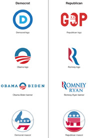 U.S. Election - Party Logos infographic