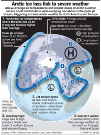 SCIENCE: Arctic extreme weather infographic
