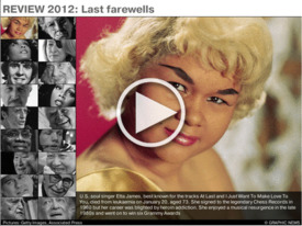 REVIEW 2012: Last farewells 2012 iGraphic infographic