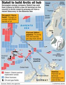 NORWAY: Statoil to build Arctic oil terminal infographic
