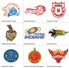 Indian Premier League crests 2013 infographic
