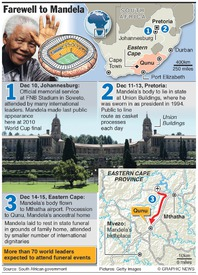 SOUTH AFRICA: Nelson Mandela's funeral (1) infographic