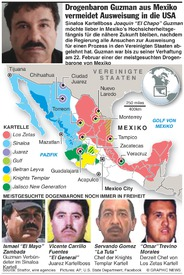 MEXIKO: Meistgesuchte Drogenbarone infographic