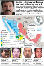 MEXICO: Meest gezochte drugsbaronnen infographic