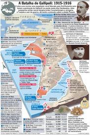 CENTENÁRIO DA I GUERRA MUNDIAL: Campanha de Gallipoli infographic