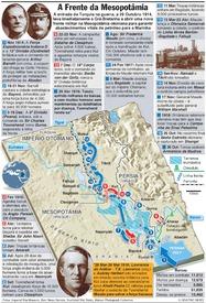 CENTENÁRIO I GUERRA MUNDIAL: A campanha da Mesopotâmia infographic