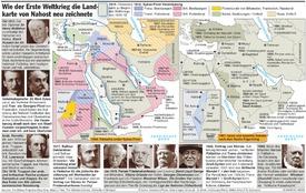 HUNDERT JAHRE WK1: Neue Grenzen in Nahost infographic