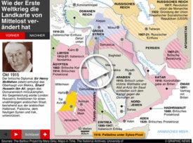 HUNDERT JAHRE WK1: Neue Grenzen in Mittelost  interactive infographic
