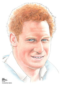 UK ROYALS: Prince Harry 2014 infographic
