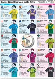 CRICKET: World Cup 2015 team guide infographic
