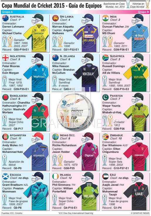 Copa Mundial 2015 - Guía de equipos infographic