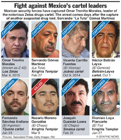MEXICO: Drug lords captured, killed infographic