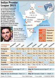 CRICKET: Indian Premier League 2015 infographic