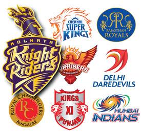 Indian Premier League crests 2015 infographic