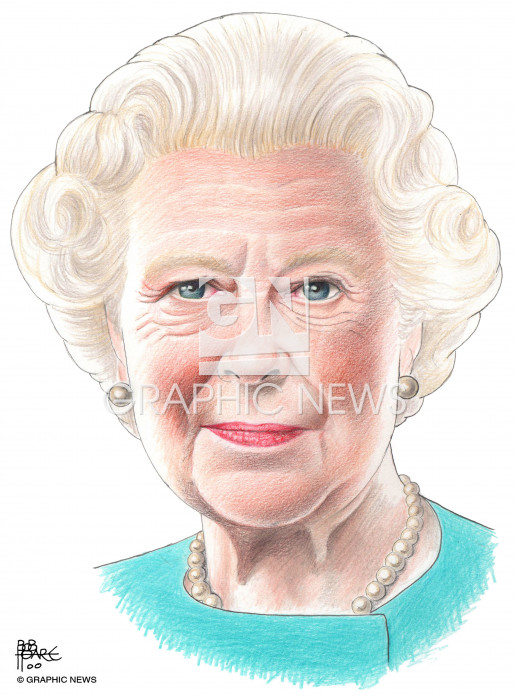 Queen Elizabeth II illustration 2015 infographic