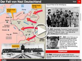 VE DAY 70: Kriegsende in Deutschland 2.WK  iGraphic infographic