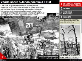 DIA VJ 70: Vitória sobre o Japão põe fim à II Guerra Mundial infographic