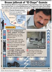 "MEXICO: ""Chapo"" Guzman's brazen jailbreak infographic"