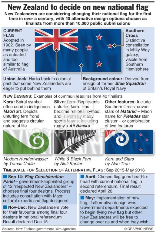 National flag debate infographic