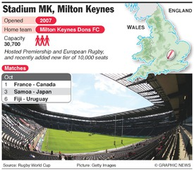 RUGBY: Rugby World Cup 2015 Stadium MK infographic