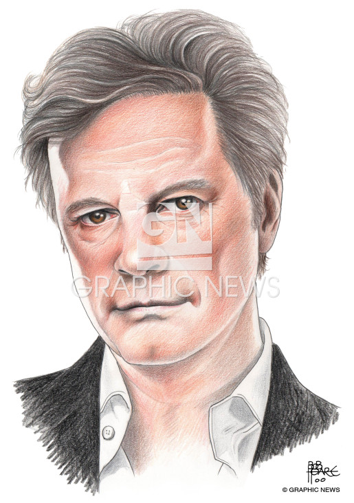 Colin Firth illustration 2015 infographic