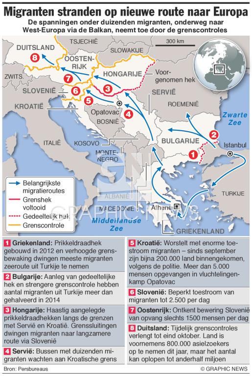 Migranten stranden op nieuwe route naar West-Europa (1) infographic