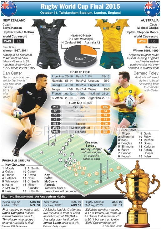 Rugby World Cup Final 2015 infographic