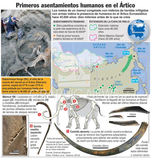 Primeros asentamientos humanos en el Ártico infographic