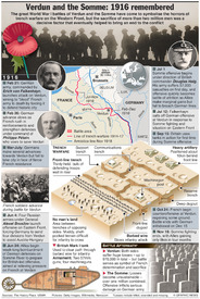 ANNIVERSARY: Verdun and the Somme centenary infographic