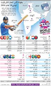 كريكيت: جدول بطولة كأس العالم للكريكيت تونتي٢٠ لعام ٢٠١٦ infographic