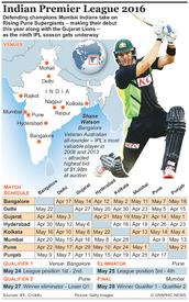 CRICKET: Indian Premier League 2016 infographic